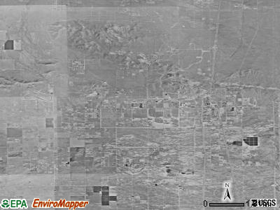 Rosamond satellite photo by USGS