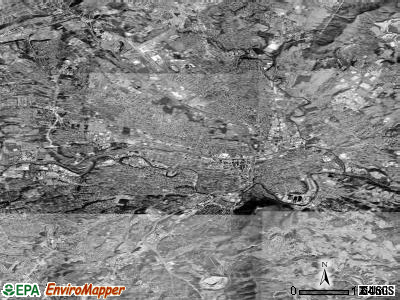 Roanoke satellite photo by USGS
