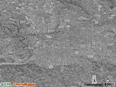 El Cajon satellite photo by USGS