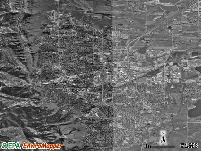 Boulder satellite photo by USGS
