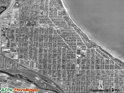 Whitefish Bay satellite photo by USGS