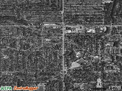 University Heights satellite photo by USGS