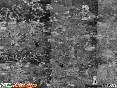 Cary satellite photo by USGS