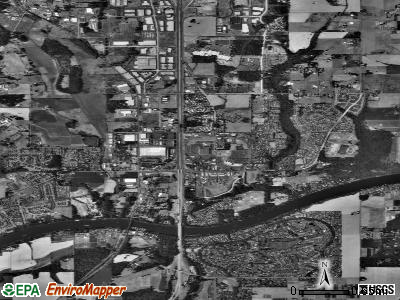Wilsonville satellite photo by USGS