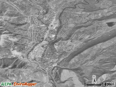 Durango satellite photo by USGS