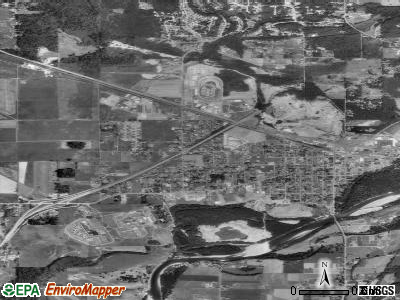 Monroe satellite photo by USGS