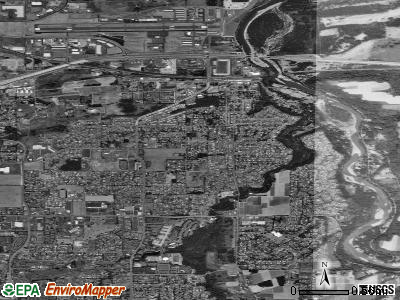 Troutdale satellite photo by USGS