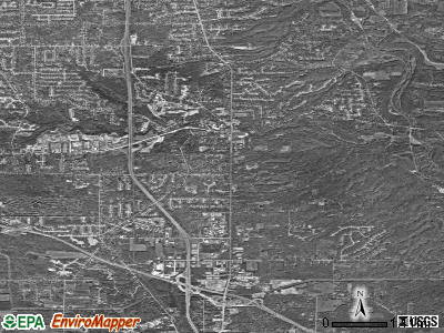 Brecksville satellite photo by USGS