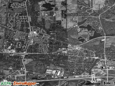 Warrenville satellite photo by USGS
