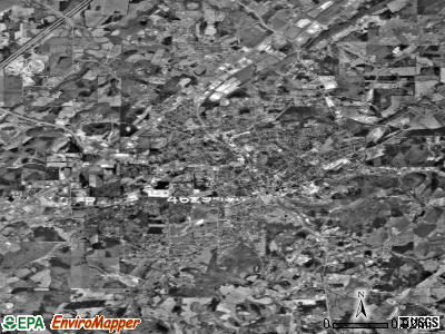 Athens satellite photo by USGS