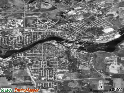 Kaukauna satellite photo by USGS
