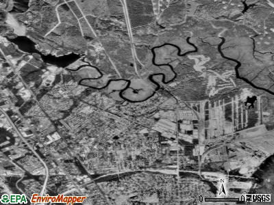 Hanahan satellite photo by USGS