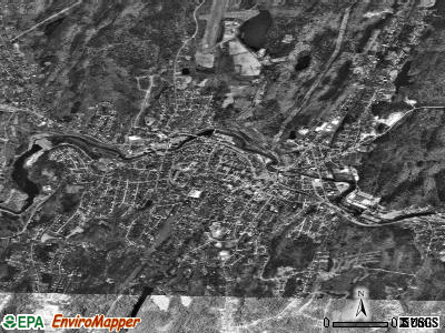 Southbridge satellite photo by USGS