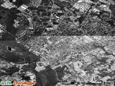 Orangeburg satellite photo by USGS