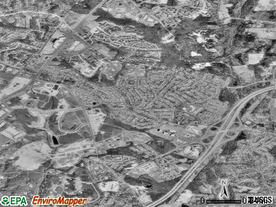 Calverton satellite photo by USGS