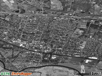Somerville satellite photo by USGS