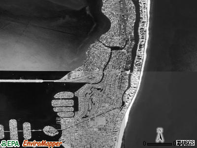 Miami Beach satellite photo by USGS