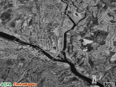 Derby satellite photo by USGS