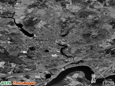 Amesbury satellite photo by USGS