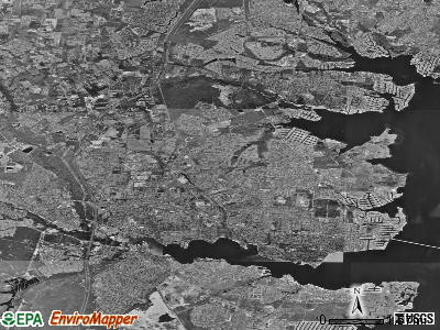 Toms River satellite photo by USGS
