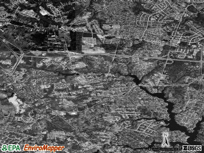 Pasadena satellite photo by USGS