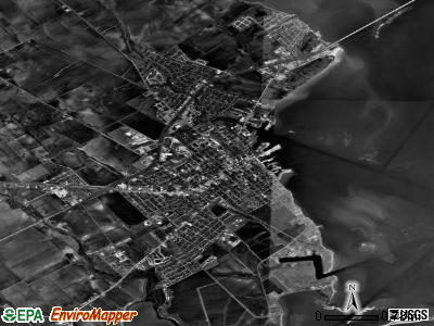 Port Lavaca satellite photo by USGS
