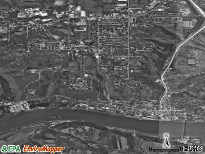 Madison satellite photo by USGS