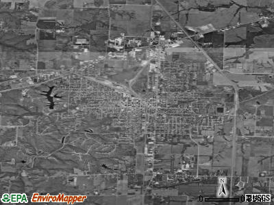 Moberly satellite photo by USGS