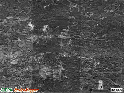 Sandy Springs satellite photo by USGS