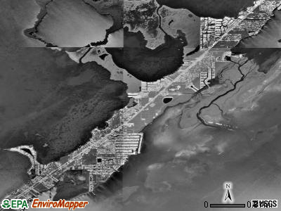 Key Largo satellite photo by USGS
