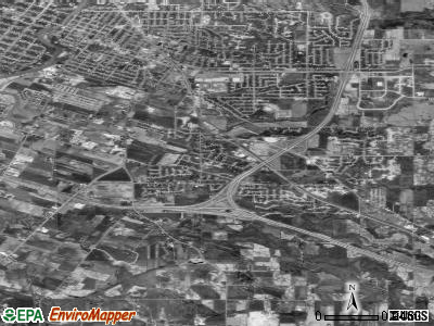Bellevue Town satellite photo by USGS