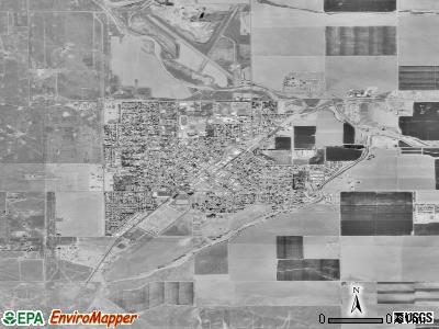 Coalinga satellite photo by USGS