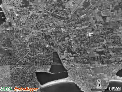 Newport East satellite photo by USGS