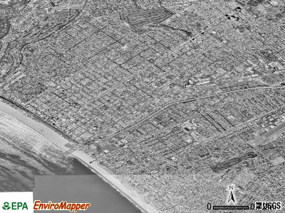 Santa Monica satellite photo by USGS