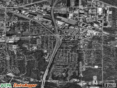 Bedford Heights satellite photo by USGS
