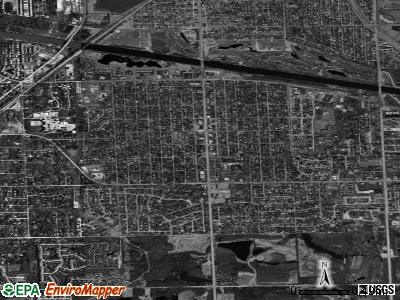 Palos Heights satellite photo by USGS