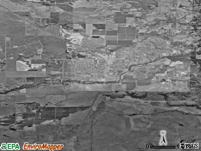 Lincoln satellite photo by USGS
