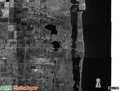 West Palm Beach satellite photo by USGS