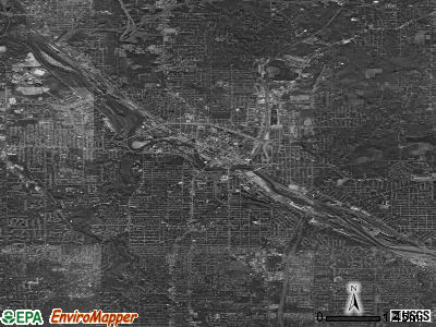 Youngstown satellite photo by USGS