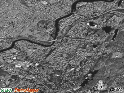 West Paterson satellite photo by USGS