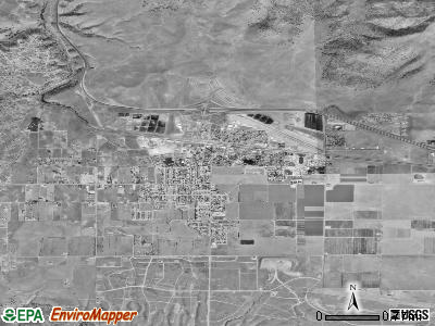 Tehachapi satellite photo by USGS