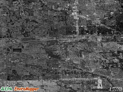 Denton satellite photo by USGS