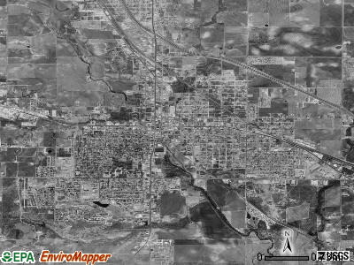 Snyder satellite photo by USGS