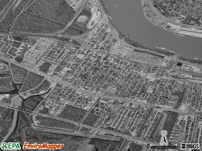 Westwego satellite photo by USGS