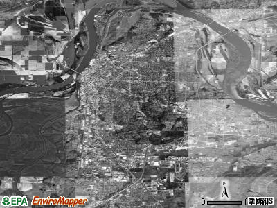 Fort Smith satellite photo by USGS
