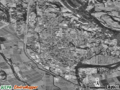 Healdsburg satellite photo by USGS