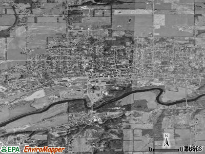 Ionia satellite photo by USGS
