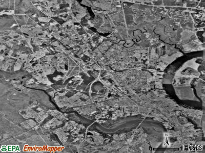 North Charleston satellite photo by USGS