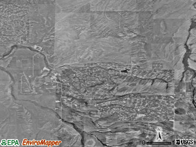Spring Creek satellite photo by USGS
