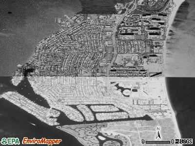 Key Biscayne satellite photo by USGS